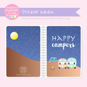 Happy campers - Camping | sticker book | HC-007/1