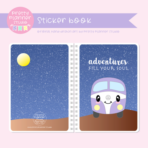 Happy campers - Adventures fill your soul | sticker book | HC-007/2