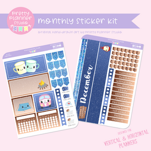 Happy campers | monthly sticker kit | vertical or horizontal | HC-132