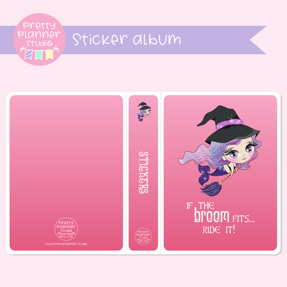 Halloween mermaids II - If the broom fits | sticker album | HM-006/3