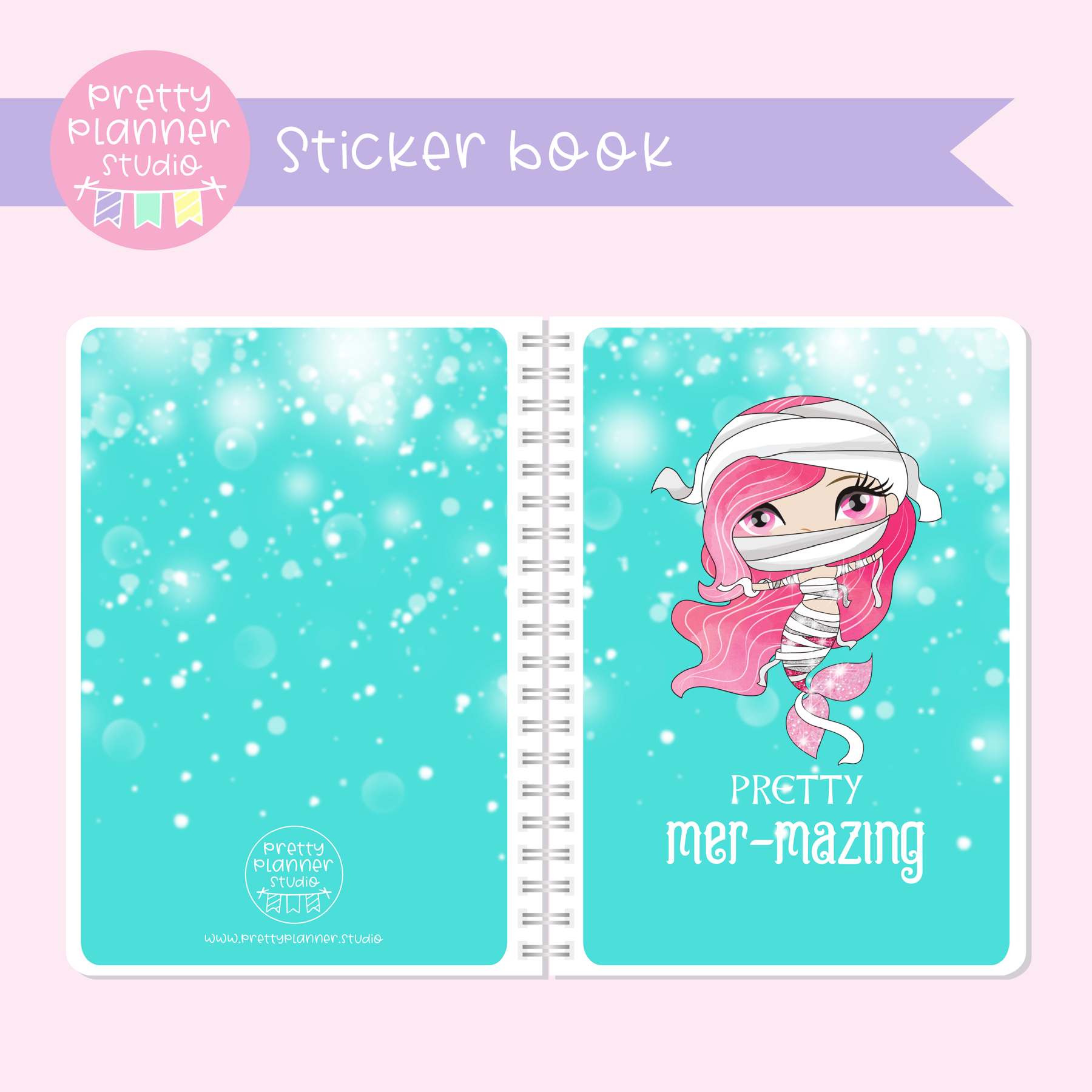 Halloween mermaids II - Pretty mer-mazing | sticker book | HM-007/1