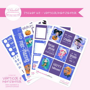 halloween mermaids | weekly sticker kit | ECLP vertical & horizontal | HM-301 to HM-304