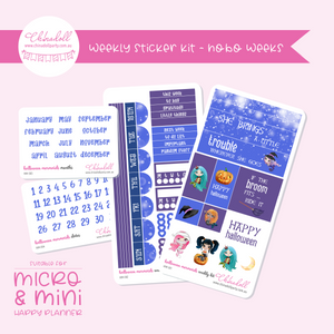 halloween mermaids | weekly sticker kit | hobonichi weeks | HM-501 to HM-504