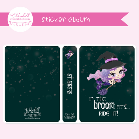 halloween mermaids - if the broom fits | sticker album | HM-903