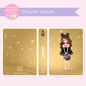 Happiest place on earth - girl | sticker album | HP-006