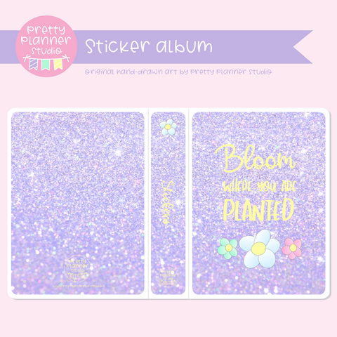 Hello spring - Bloom where you are planted | sticker album | HS-006/3