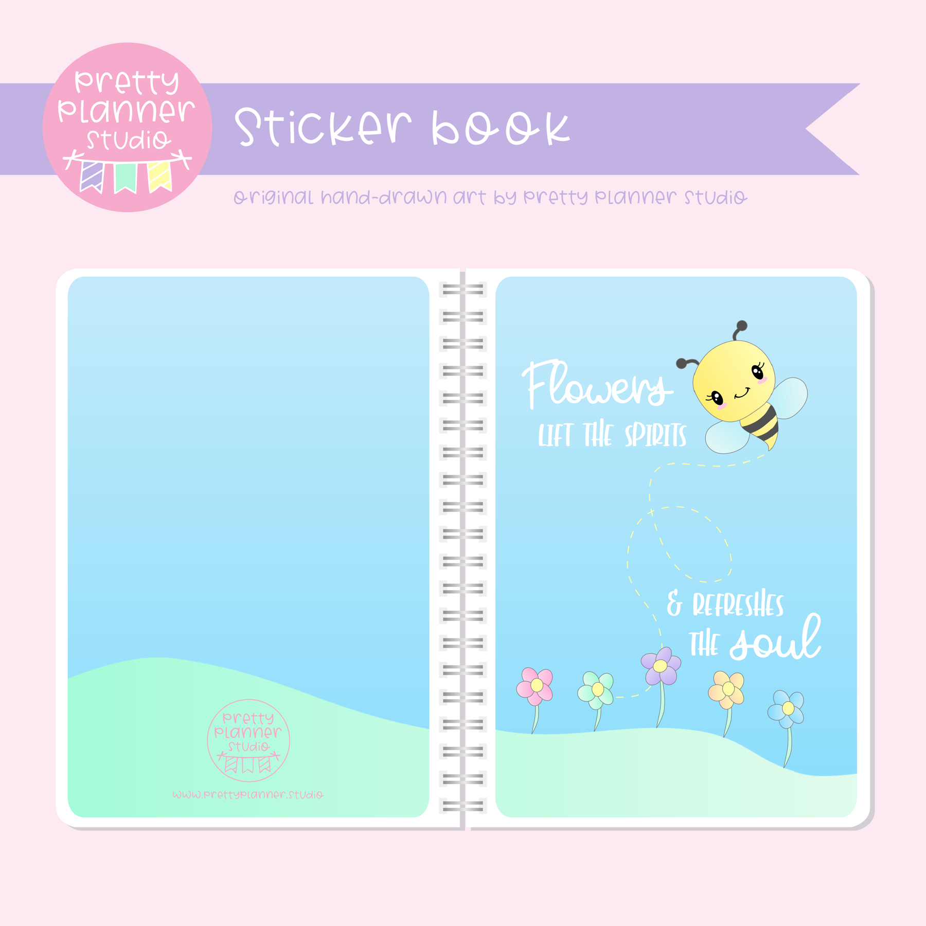 Hello spring - Flowers lift the spirits | sticker book | HS-007/1