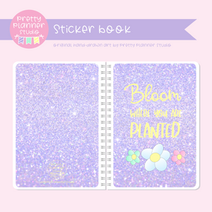 Hello spring - Bloom where you are planted | sticker book | HS-007/3