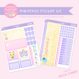 Hello spring | monthly sticker kit | vertical or horizontal | HS-132