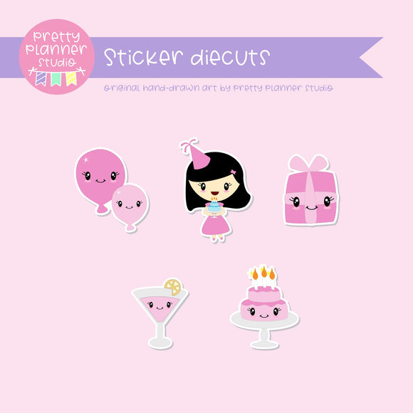 It's my birthday II - pink | sticker diecuts | IB-005