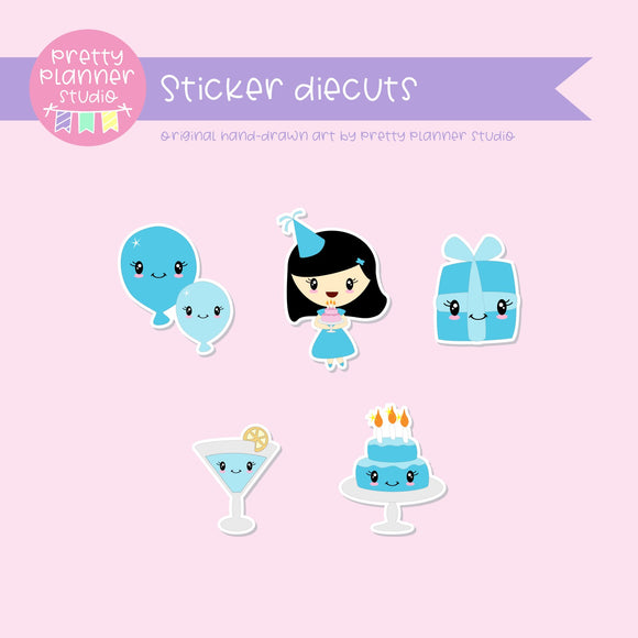 It's my birthday II - blue | sticker diecuts | IB-005