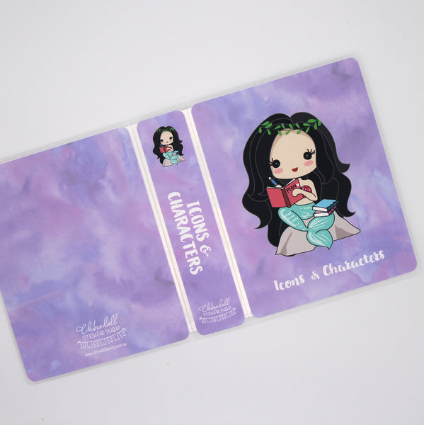 mermaid life #plannergirl - watercolour purple | custom sticker album | ML-904