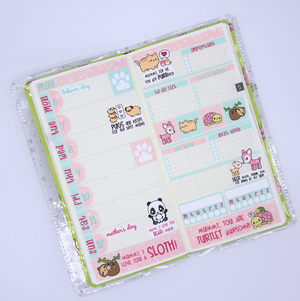 mummy love - mother's day 2019 weekly sticker kit | hobonichi weeks | MU-501 and MU-502