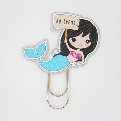 mermaid life - no spend | planner clip