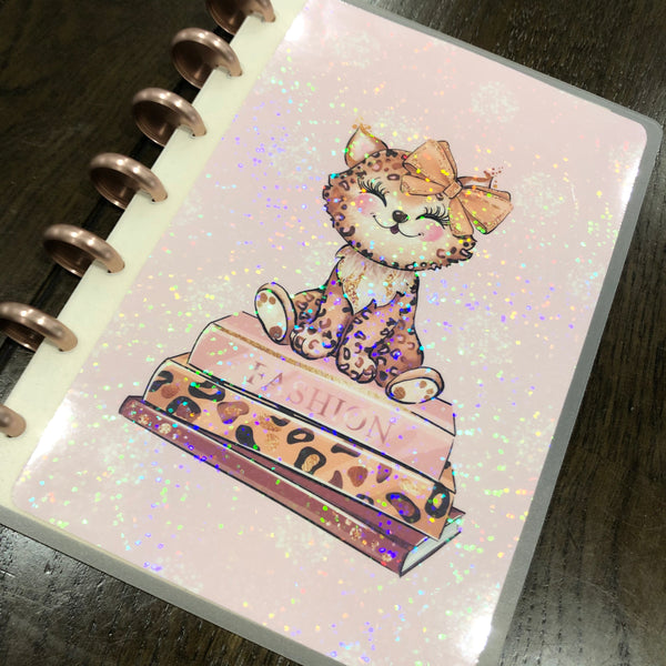 Wild & chic - Baby leopard | holographic planner / notebook cover | Build your own notebook | WC-008/5