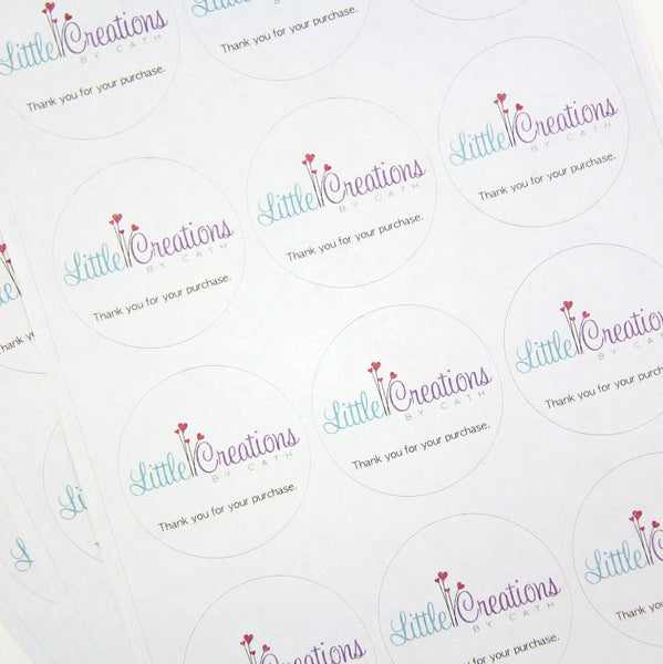 business labels | medium round | 5cm