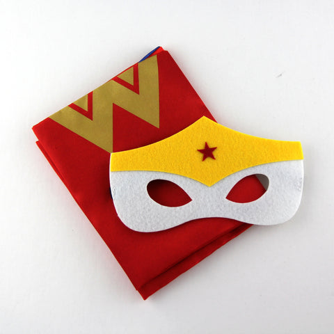 superheroes cape and mask | personalised | wonder woman