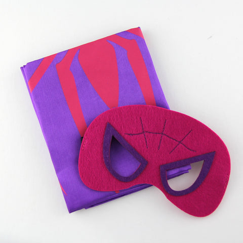 superheroes cape and mask | spidergirl