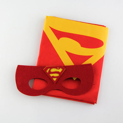 superheroes cape and mask | superman | red