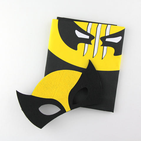 superheroes cape and mask | wolverine