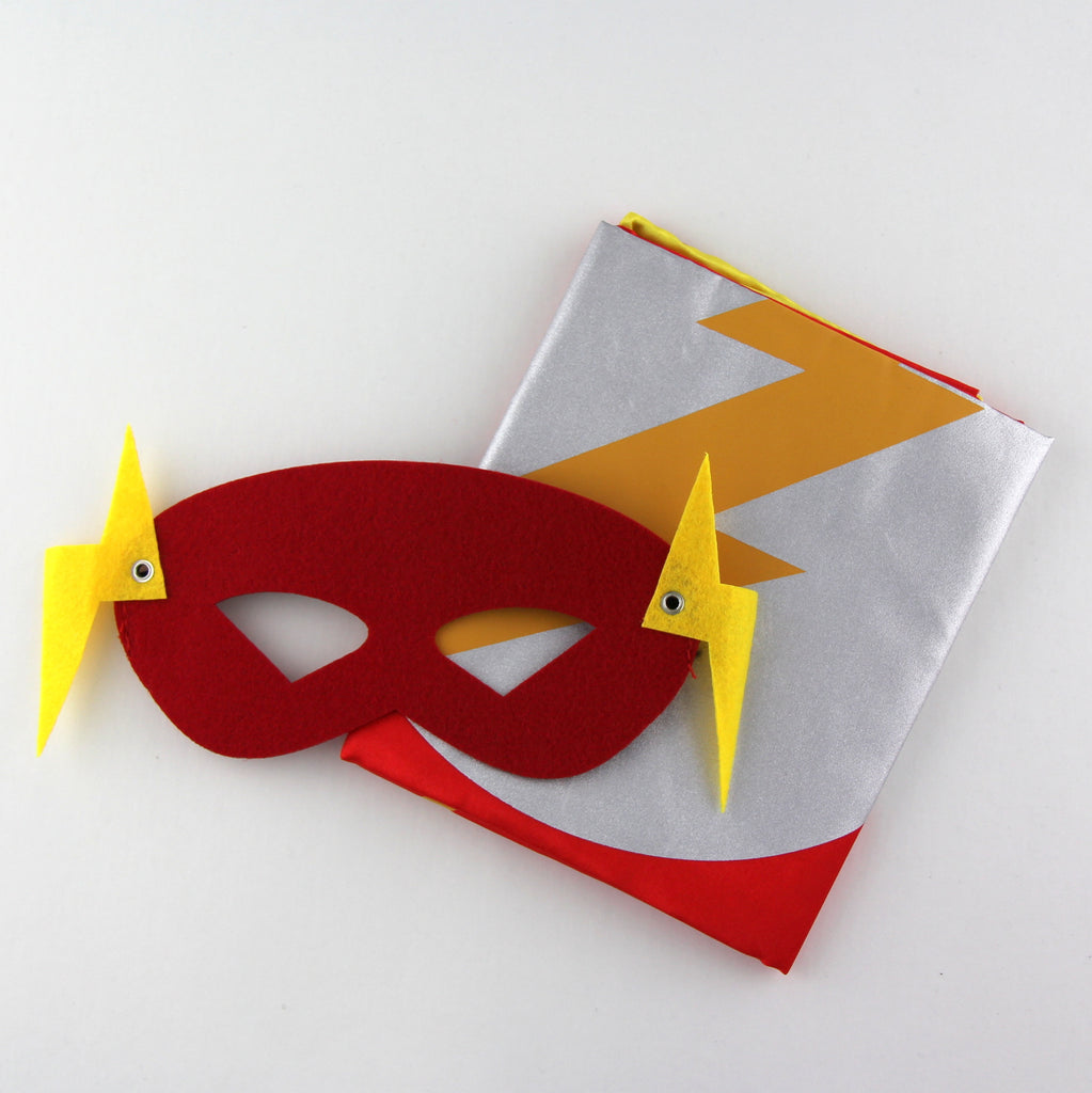 superheroes cape and mask | flash