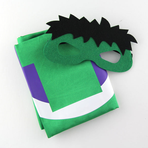superheroes cape and mask | hulk