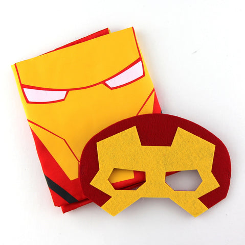 superheroes cape and mask | ironman