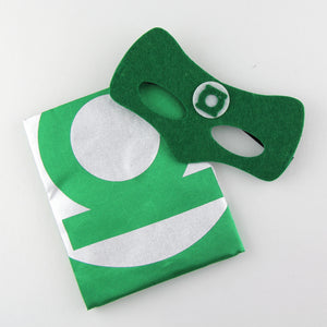superheroes cape and mask | personalised | green lantern