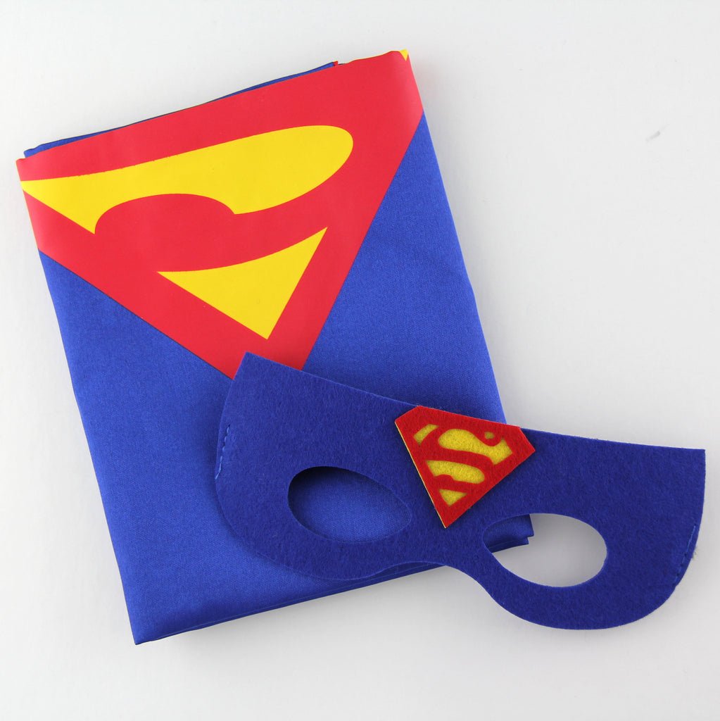 superheroes cape and mask | superman | blue | READY TO SHIP