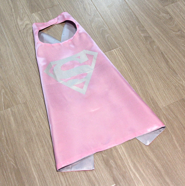 superheroes cape and mask | supergirl | pink