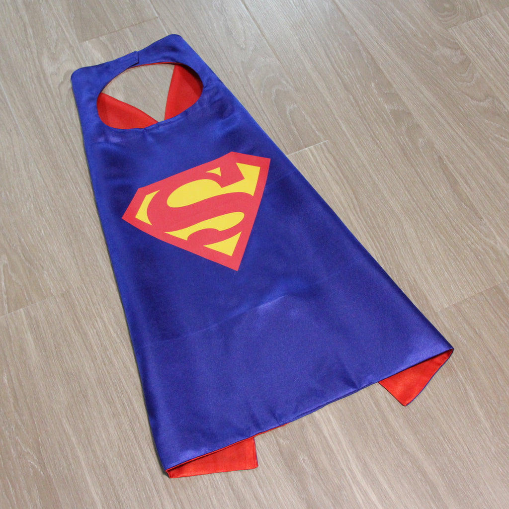 superheroes cape and mask superman blue ready to ship