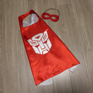 transformers cape and mask | personalised | optimus prime