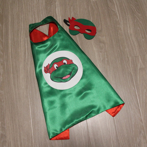 turtle ninja cape and mask | raphael | TMNT teenage mutant ninja turtles | READY TO SHIP