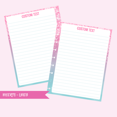 fairy dust - lined | double-sided insert - pack of 10 | The Happy Planner - classic mini micro | IN-101