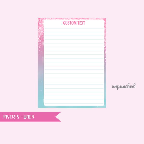 fairy dust - lined | single-sided inserts - pack of 10 | The Happy Planner - classic | IN-101