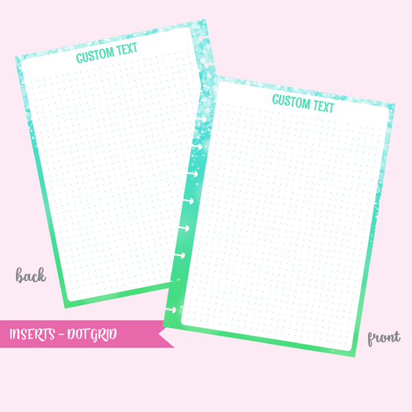 fairy dust - dot grid | double-sided inserts - pack of 10 | The Happy Planner - classic mini micro | IN-102