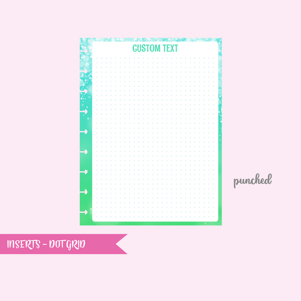 fairy dust - dot grid | single-sided inserts - pack of 10 | The Happy Planner - classic | IN-102