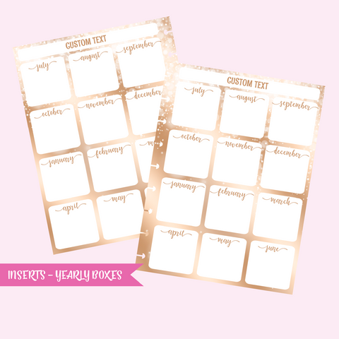 fairy dust - yearly boxes | double-sided inserts - pack of 10 | The Happy Planner - classic mini micro | IN-103