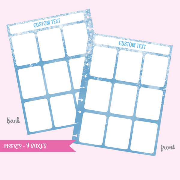 fairy dust - 9 boxes | double-sided inserts - pack of 10 | The Happy Planner - classic mini micro | IN-107