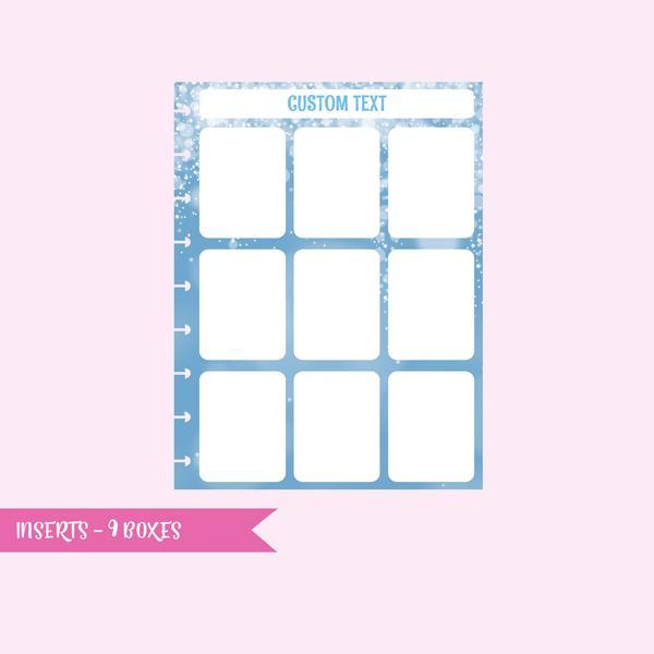 inserts - 9 boxes | single-sided - pack of 10 | The Happy Planner - classic | IN-107