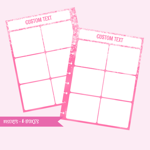inserts - 6 boxes | double-sided - pack of 10 | The Happy Planner - classic mini micro | IN-108