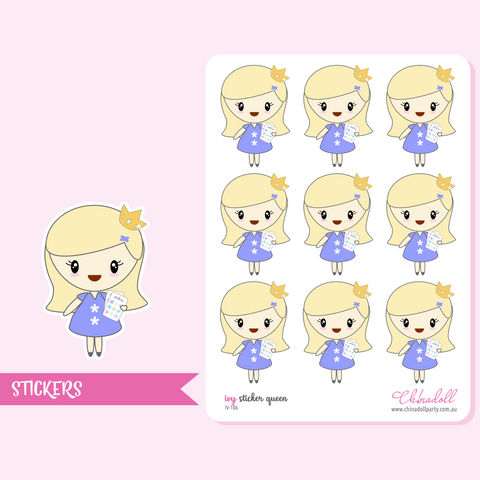 planner girl - ivy - sticker queen | sticker sheet | IV-106