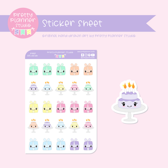 Just play - gifts and cake | sticker sheet | JP-004/1