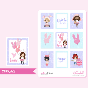 easter girls - full boxes | sticker sheet | ECLP vertical | KIT-EAS-VLP-G01