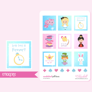 alice in wonderland - full boxes | sticker sheet | ECLP horizontal | KIT-HLP-WND-01