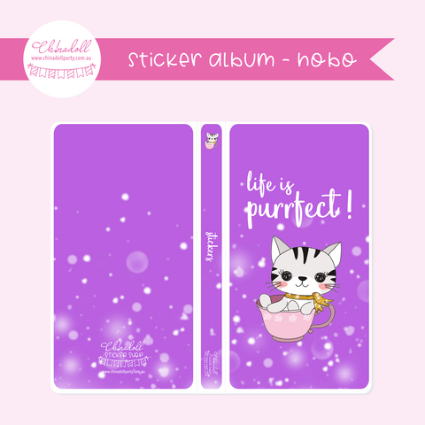 life is purrfect | sticker album - hobo weeks | LP-901