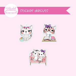 life is purrfect | sticker diecuts | LP-921 to LP-923