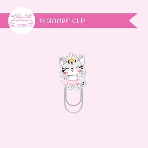 life is purrfect - princess kitty | planner clip | LP-931