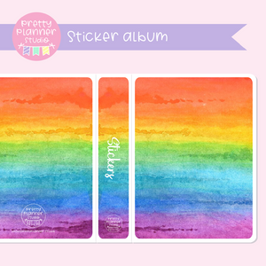 Love and rainbows - watercolour | sticker album | LR-006/1