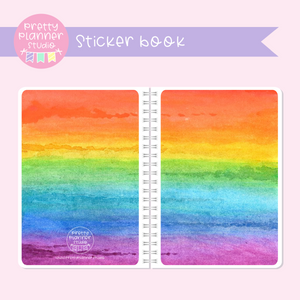 Love and rainbows - watercolour | sticker book | LR-007/1